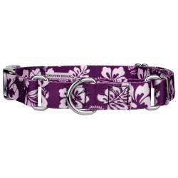 Purple Hawaiian Martingale with Premium Buckle