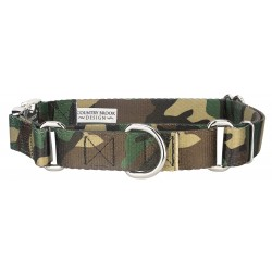 Woodland Camo Martingale with Premium Buckle