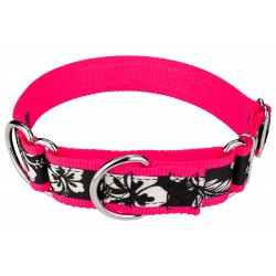 1 1/2 Inch Black Hawaiian Exclusive Martingale Dog Collar