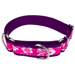 1 1/2 Inch Pink Hawaiian Exclusive Martingale Dog Collar