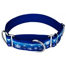 1 1/2 Inch Winter Wonderland Exclusive Martingale Dog Collar