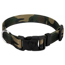 Deluxe Woodland Camo Reflective Dog Collar
