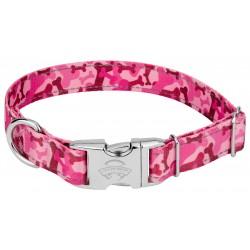 Premium Pink Bone Camo Reflective Dog Collar