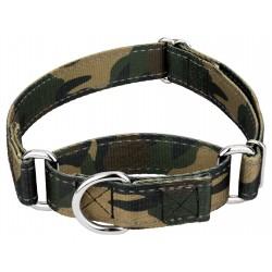 Woodland Camo Reflective Martingale Dog Collar