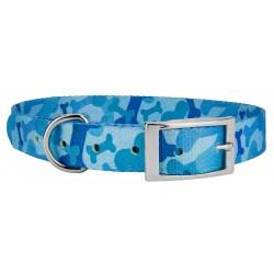 Blue Bone Camo Traditional Dog Collar
