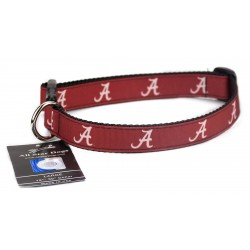 Alabama Crimson Tide Ribbon Dog Collar