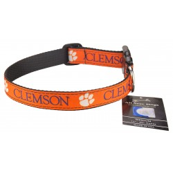 Clemson Tigers Ribbon Dog Collar