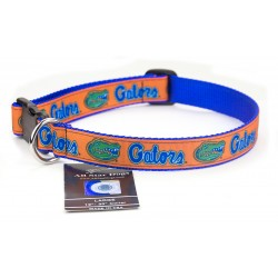 Florida Gators Ribbon Dog Collar