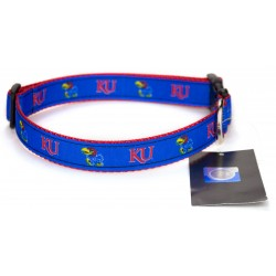 Kansas Jayhawks Ribbon Dog Collar