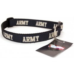 Army Black Knights Ribbon Dog Collar