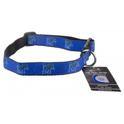 Memphis Tigers Ribbon Dog Collar