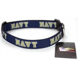 Navy Midshipmen Ribbon Dog Collar