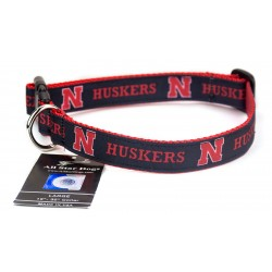 Nebraska Cornhuskers Ribbon Dog Collar