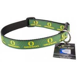 Oregon Ducks Ribbon Dog Collar