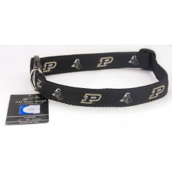 Purdue Boilermakers Ribbon Dog Collar