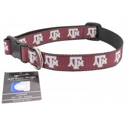 Texas A&M Aggies Ribbon Dog Collar