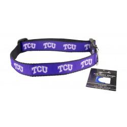 TCU Horned Frogs Ribbon Dog Collar