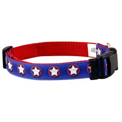 Deluxe American Star Ribbon Dog Collar