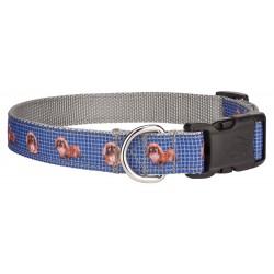 Deluxe Blue Pekingese Ribbon Collar