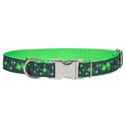 Premium Clovers in the Wind Ribbon Dog Collar