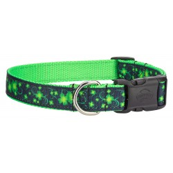 Deluxe Clovers in the Wind Ribbon Dog Collar