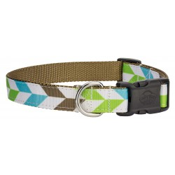 Deluxe Earthscape Ribbon Dog Collar - Large Limited Edition