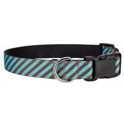 Deluxe Robin's Egg Stripes Ribbon Collar