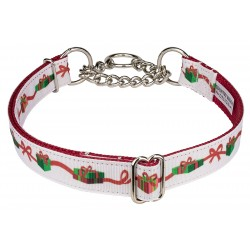 Gifts of Love Ribbon Half Check Dog Collar Limited Edition