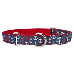 Anchors Away Ribbon Martingale Collar