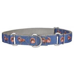 Blue Pekingese Ribbon Martingale Collar