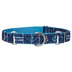 Blue Refuse to Sink Ribbon Martingale Collar Limited Edition
