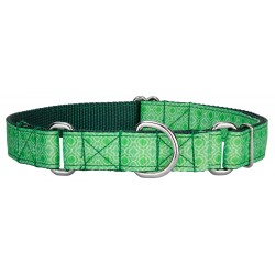 Minty Chic Ribbon Martingale Dog Collar Limited Edition