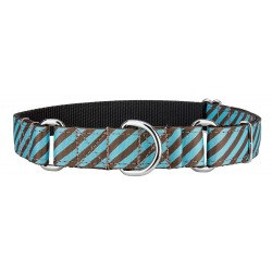 Robin's Egg Stripes Ribbon Martingale Collar