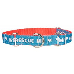 Rescue Me Ribbon Martingale Collar Limited Edition