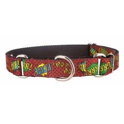Red Super Dog Ribbon Martingale Collar