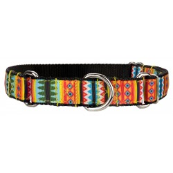 Summer Pines Ribbon Martingale Dog Collar