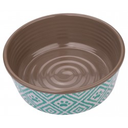 TarHong Paw Ikat Melamine Pet Bowl, Small