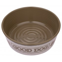 TarHong Natural Good Dog Melamine Pet Bowl, Medium
