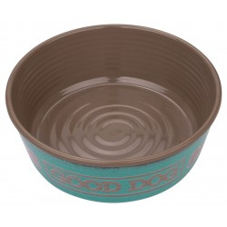 TarHong Teal Good Dog Melamine Pet Bowl, Medium