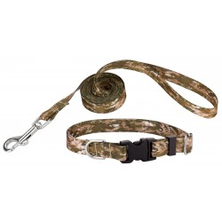 Desert Viper Camo Deluxe Featherweight Dog Collar & Leash - Extra Small