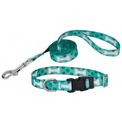 Oh My Dog Deluxe Featherweight Dog Collar & Leash - Mini