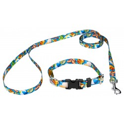 Pool Party Deluxe Dog Collar & Leash