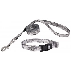 Urban Camo Deluxe Featherweight Dog Collar & Leash - Extra Small