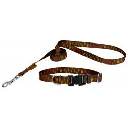 Deluxe Featherweight Whitetail Buck Dog Collar & Leash - Mini
