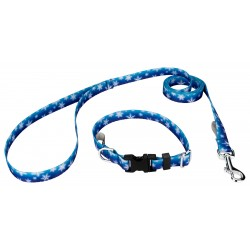 Winter Wonderland Deluxe Featherweight Dog Collar & Leash - Mini