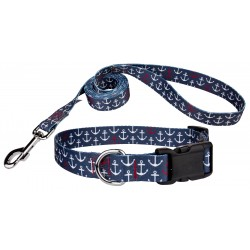 Anchors Away Deluxe Dog Collar & Leash