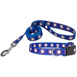 American Stars Deluxe Dog Collar & Leash
