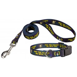 Course Be With You Deluxe Dog Collar & Leash