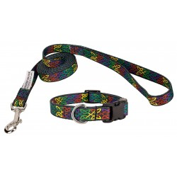 Deluxe Celtic Pride Featherweight Collar & Leash - Extra Small