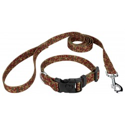 Gingerbread Deluxe Dog Collar & Leash